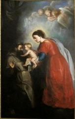 Eglise Sainte-Marie-Madeleine - La vierge présentant l'enfant jésus à saint François d'après Rubens dans l'église sainte Marie-Madeleine de Lille (Nord).