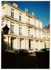 Hôtel Scrive, actuellement siège de la Direction régionale des Affaires culturelles du Nord-Pas-de-Calais -   Hôtel Scrive (Lille). Aile du Logis.    Camera location50°38′17.09″N, 3°04′08.38″E  View this and other nearby images on: OpenStreetMap 50.638081;    3.068994