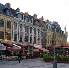 Maisons -  Lille, France.  Place Rihour