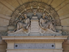 Palais Rameau - Català: Lilla (França): Palau Rameau, Detall del frontó