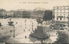 Statue de Faidherbe -  Lille - 43 - Place de la République - La Prefecture