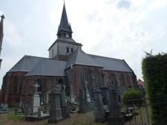 Eglise Saint-Firmin - English: Morbecque (Nord, Fr) église