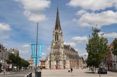 Eglise Saint-Christophe -  Centre-Ville / Parvis Saint-Christophe Catholic church. Arch. Charles Leroy 1857-65.
