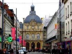 Hôtel de ville - Français:   Vue de face , de la mairie ou hôtel de ville de Tourcoing.