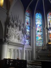 Eglise Saint-Gilles -  Haut relief du choeur de l'église Saint-Gilles à Watten
