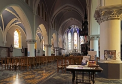 Eglise Saint-Gilles - Nederlands: Watten (département du Nord, Frankrijk): interieur van de Sint-Gilliskerk