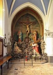 Eglise Saint-Gilles - Nederlands: Watten (département du Nord, Frankrijk): interieur van de Sint-Gilliskerk - detail: calvarie