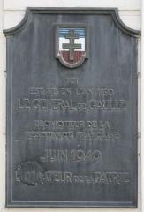 Maison natale du Général de Gaulle, actuellement musée - Deutsch: Gedenktafel am Geburtshaus von Charles de Gaulle in Lille