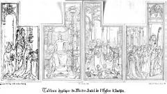 Ancienne abbaye d'Anchain - Français:   Abbaye d\'Anchin - Tryptique autel
