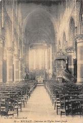Eglise Saint-Joseph - Carte postale ancienne de l'église Saint-Joseph de Roubaix, vers 1900.