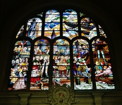 Eglise Saint-Joseph - Deutsch: Buntglasfenster der Kirche St. Joseph, Roubaix, Département Nord, Region Oberfrankreich (ehemals Nord-Pas-de-Calais), Frankreich