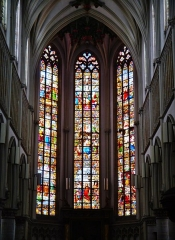 Eglise Saint-Joseph - Deutsch: Chorfenster der Kirche St. Joseph, Roubaix, Département Nord, Region Oberfrankreich (ehemals Nord-Pas-de-Calais), Frankreich