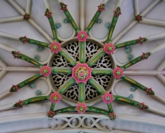 Eglise Saint-Joseph - Deutsch: Chorgewölbe der Kirche St. Joseph, Roubaix, Département Nord, Region Oberfrankreich (ehemals Nord-Pas-de-Calais), Frankreich