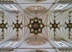 Eglise Saint-Joseph - Deutsch: Gewölbe der Kirche St. Joseph, Roubaix, Département Nord, Region Oberfrankreich (ehemals Nord-Pas-de-Calais), Frankreich