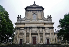 Cathédrale Notre-Dame et Saint-Vaast - Deutsch: Fassade der Kathedrale Unserer Lieben Frau & St. Vaast, Arras, Département Pas-de-Calais, Region Oberfrankreich (ehemals Nord-Pas-de-Calais), Frankreich
