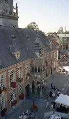 Hôtel de ville -  La facade de l'Hôtel de ville d'Hesdin
