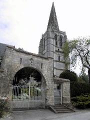 Eglise Saint-Omer -  Le porche du cimetière de Merck-saint-lievin