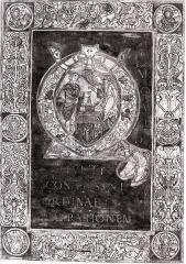 Ancienne abbaye de Saint-Bertin - English: St Otbert, abbot of St Bertin Abbey à Saint-Omer, c. 968-1007, adoring Christ at the Nativity, from a 10th century manuscript