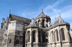 Collégiale, puis cathédrale Notre-Dame, actuellement église paroissiale Notre-Dame - Saint-Omer (Pas-de-Calais - France), abside et chapelle rayonnantes de la cathédrale Notre-Dame (XIIIe siècle).