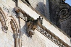 Collégiale, puis cathédrale Notre-Dame, actuellement église paroissiale Notre-Dame - Gargouille et balustrade du porche méridional de la cathédrale Notre-Dame de Saint-Omer (Pas-de-Calais, France).