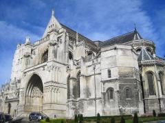 Collégiale, puis cathédrale Notre-Dame, actuellement église paroissiale Notre-Dame - Cathédrale Notre-Dame de Saint-Omer (Pas-de-Calais), France.