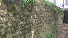 Enceinte gallo-romaine (vestiges) - English:   Remnants of the Gallo-Roman wall of Nantes at Porte Saint-Pierre (interior side)