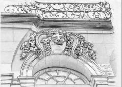 Maison - Français:   Façade d\'immeuble au 86 Quai de la Fosse