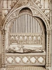 Ancienne abbaye Saint-Aubin, actuelle préfecture - Adèle de Vermandois, d. 975