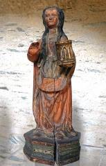 Collégiale Saint-Martin - Statue en bois polychrome de sainte Marie Madeleine (XVIe siècle). Cette statue se trouve dans l'église Saint-Martin d'Angers (Maine-et-Loire, France).
