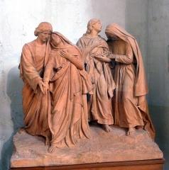Collégiale Saint-Martin - Déploration du Christ de F. Escudero (1907)   Oeuvre exposée dans l'église Saint-Martin d'Angers (Maine-et-Loire, France)