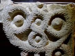 Collégiale Saint-Martin - Église Saint-Martin d'Angers (plaque sculptée provenant de la 3e église, VIII-IXe siècles, calcaire)