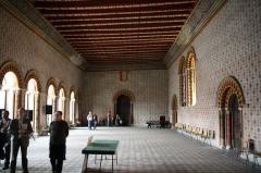 Ancien évêché ou Palais du Tau - English:  High justice court in the episcopal palace of Angers, Maine-et-Loire, Pays de la Loire, France.
