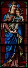 Eglise - Français:   Vierge à l\'enfant - Eglise Saint-Gervais et Saint-Protais - Brion (Maine et Loire)