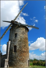 Moulin à vent du Rat -  Le moulin du Rat à Challain-la-Potherie (Maine-et-Loire, France).