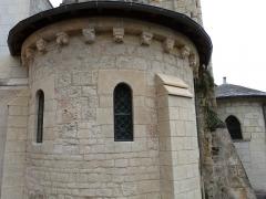 Eglise des Tuffeaux - Français:   Abside de l\'église Notre-Dame-de-la-Prée-des-Tuffeaux (Classée M.H.)