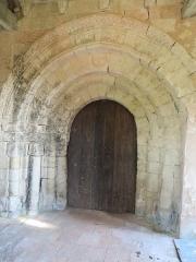Eglise - Français:   Porte de l\'église de Dénezé-sous-Doué, Maine-et-Loire, France