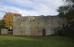 Motte féodale et donjon (restes) - Doué-la-Fontaine (Maine-et-Loire)  Aula Carolingienne (Xe siècle).    Cet édifice fut découvert en 1966. La municipalité avait décidé d\'araser une butte de terre appelée \