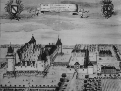 Château du Plessis-Bourré - Italiano: Castello di Le Plessis Bourré nel XVII secolo; acquerello della collezione Gaignières, Biblioteca nazionale di Parigi