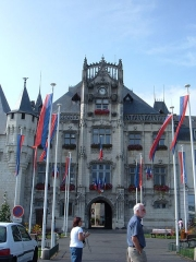 Hôtel de ville -  The city hall (hotel de ville) of Saumur, France.