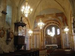 Eglise - Français:   Église Saint-Denis à Aubigné-sur-Layon (Maine-et-Loire, France).
