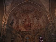 Chapelle Saint-Crépin - English: A fresco inside the abbey of Évron, Mayenne, France.