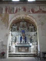 Chapelle Notre-Dame de Pritz - Français:   Le retable baroque.
