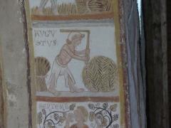 Chapelle Notre-Dame de Pritz - Français:   Fresque du calendrier des saisons intrados de l\'arc du chœur Chapelle Notre Dame de Pritz