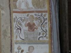 Chapelle Notre-Dame de Pritz - Français:   Fresque intrados de l\'arc du chœur de Notre Dame de Pritz 13ème siècle