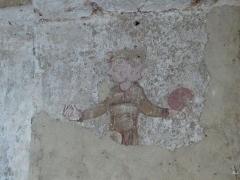 Chapelle Notre-Dame de Pritz - Français:   Fresque de Notre Dame de Pritz  début 12ème siècle, calendrier remplacé par un autre du 13ème siècle.