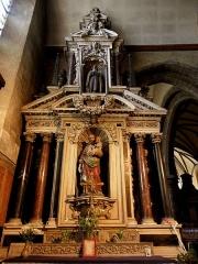 Eglise Notre-Dame des Cordeliers - Français:   Autel et retable de Saint-Joseph. Église Notre-Dame-des-Cordeliers de Laval (53). Architecte: Pierre Corbineau.