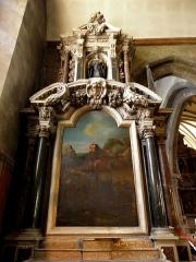 Eglise Notre-Dame des Cordeliers - Français:   Autel et retable de Saint-François. Église Notre-Dame-des-Cordeliers de Laval (53). Architecte: Pierre Corbineau.