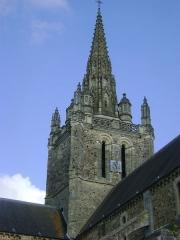 Eglise Notre-Dame d'Avesnière - Eglise Notre-Dame d'Avernière à Laval, Mayenne. Le clocher.