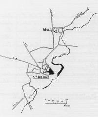 Camp de Beugy -  plan du camp de Beugy à Ste-Suzanne (Mayenne)
