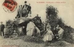 Dolmen dit des Erves -  Dolmen des Erves au début du XXe siècle